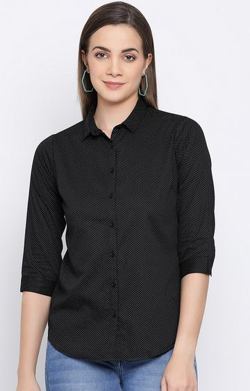 Crimsoune Club | Black Printed Casual Shirt