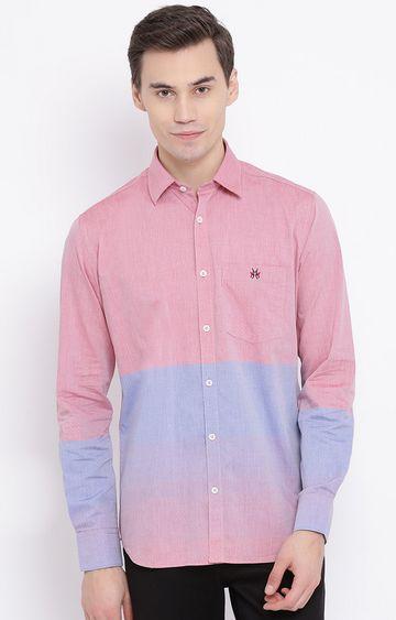 Crimsoune Club | Pink Colourblock Casual Shirt