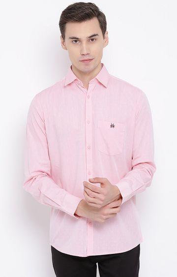 Crimsoune Club   Pink Solid Casual Shirt