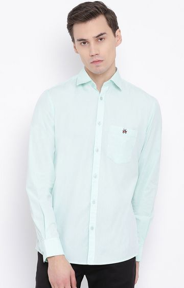Crimsoune Club | Green Solid Casual Shirt