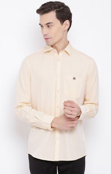 Crimsoune Club | Cream Solid Casual Shirt