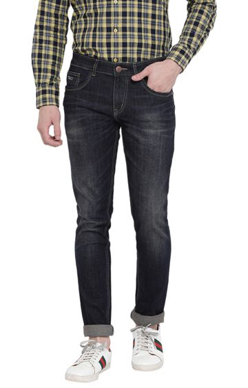 Crimsoune Club   Black Solid Tapered Jeans