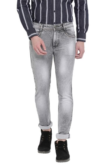 Crimsoune Club | Grey Solid Tapered Jeans