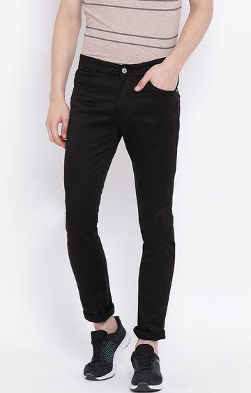 Crimsoune Club | Black Solid Slim Fit Jeans