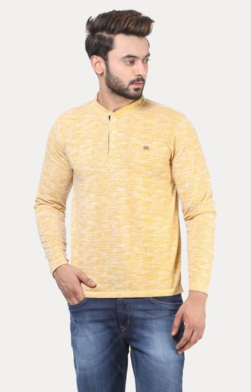 Crimsoune Club   Yellow Melange T-Shirt