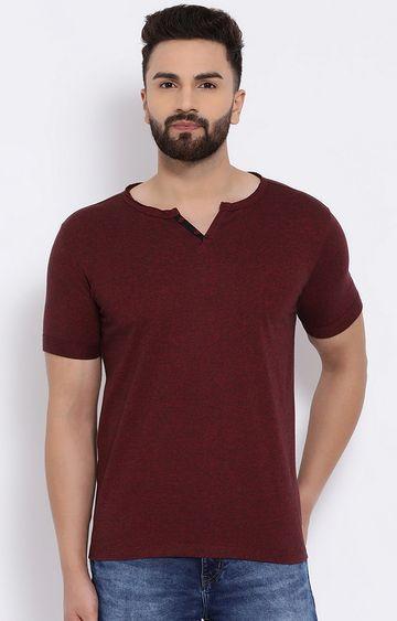 Crimsoune Club | Maroon Melange T-Shirt