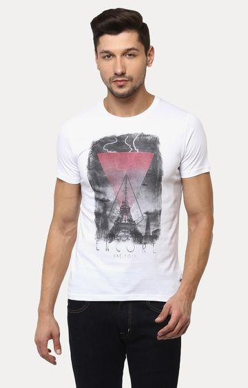 Crimsoune Club | White Printed T-Shirt