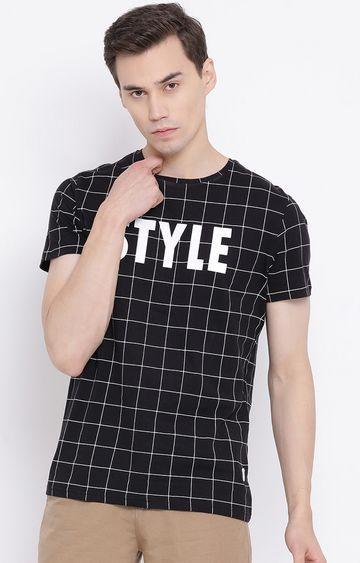 Crimsoune Club | Black Checked T-Shirt