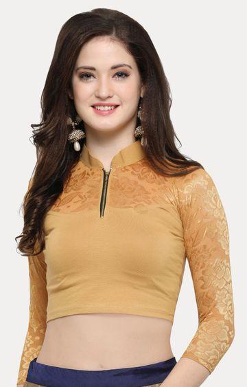 Janasya | Light Brown Solid Blouse