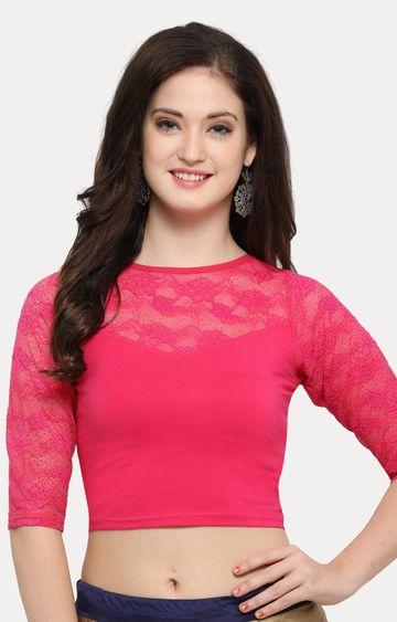 Janasya   Dark Pink Solid Blouse