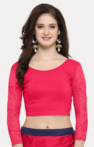 Janasya | Dark Pink Solid Blouse