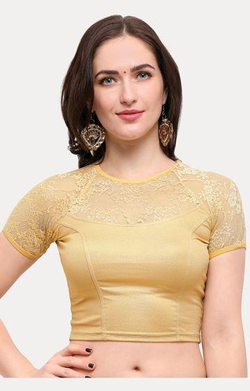 Janasya | Gold Solid Blouse