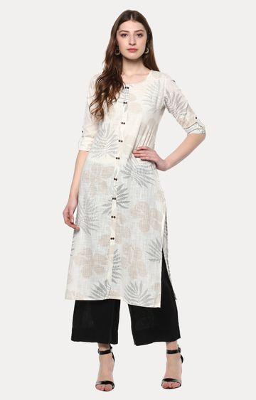 Janasya | Off White Printed Kurta