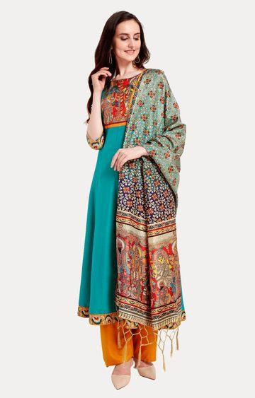 Janasya | Multicoloured Printed Dupatta