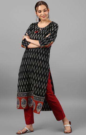 Janasya | Black Striped Kurta