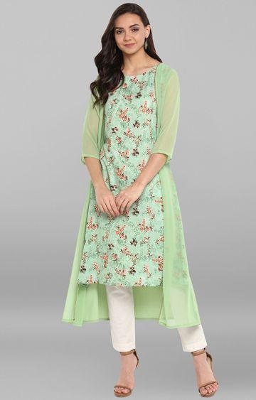 Janasya | Green Printed Kurta
