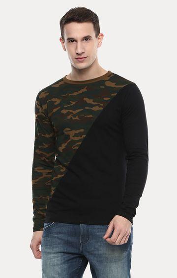 Urbano Fashion   Multicoloured Printed T-Shirt