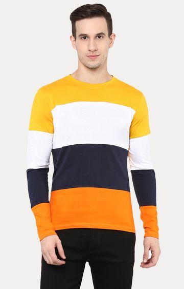 Urbano Fashion   Multicoloured Colourblock T-Shirt