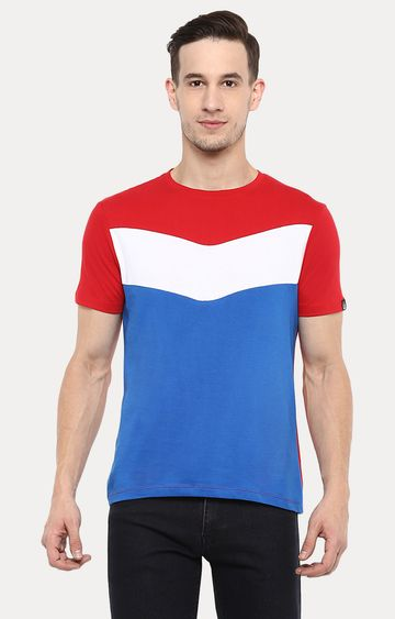 Urbano Fashion | Multicoloured Colourblock T-Shirt