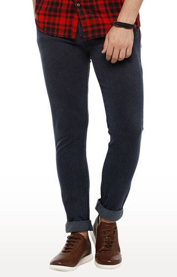 Urbano Fashion   Grey Solid Tapered Jeans