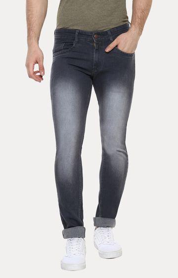 Urbano Fashion   Grey Solid Straight Jeans