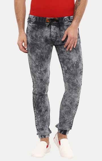Urbano Fashion | Dark Grey Solid Joggers