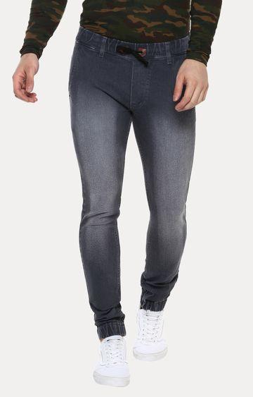 Urbano Fashion   Grey Solid Joggers