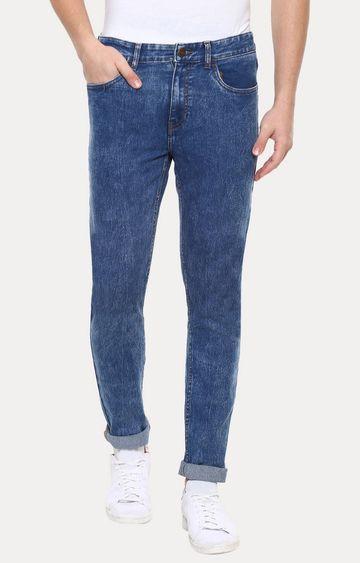 Urbano Fashion   Blue Solid Straight Jeans