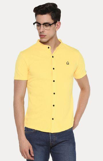 Urbano Fashion | Yellow Cotton Polo Shirt