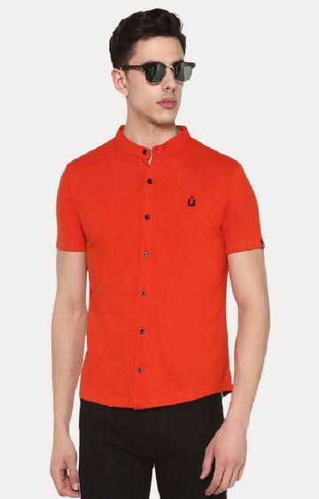 Urbano Fashion | Orange Cotton Polo Shirt