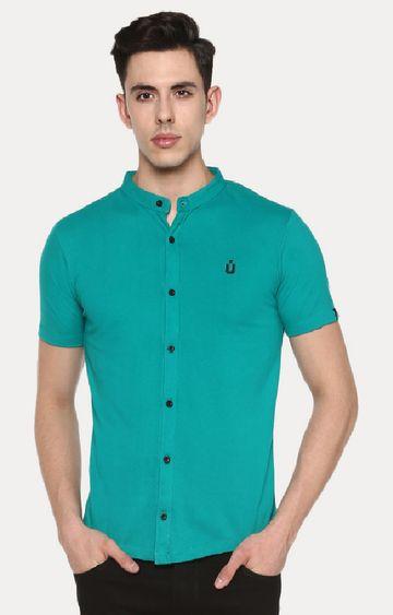 Urbano Fashion | Green Cotton Polo Shirt