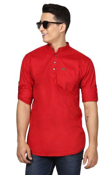 Urbano Fashion | Red Solid Casual Shirt