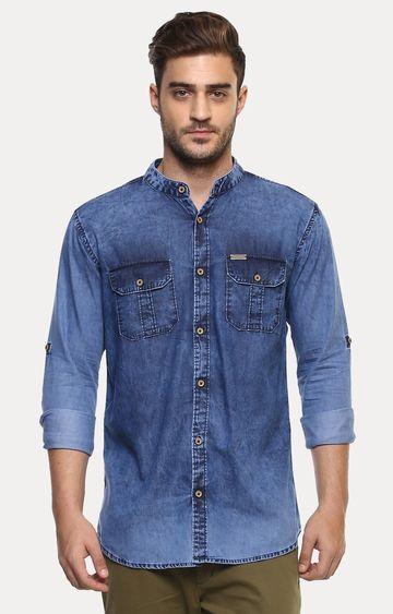 Urbano Fashion | Blue Solid Casual Shirt