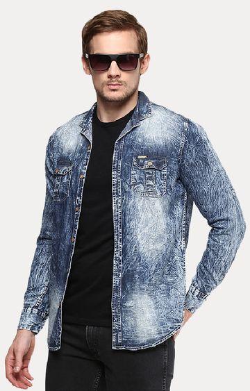 Urbano Fashion | Grey Printed Casual Shirt