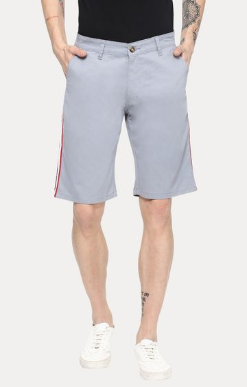Urbano Fashion | Stone Blue Solid Shorts