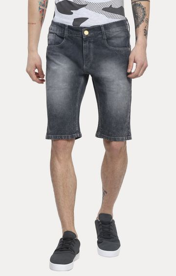 Urbano Fashion | Dark Grey Solid Shorts