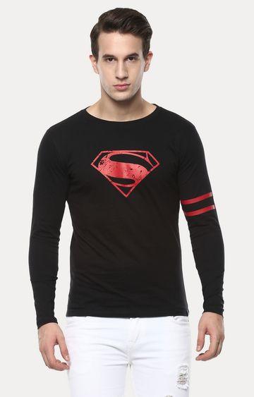 Urbano Fashion | Black Printed T-Shirt