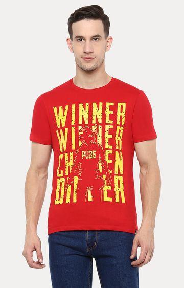 Urbano Fashion | Red Printed T-Shirt