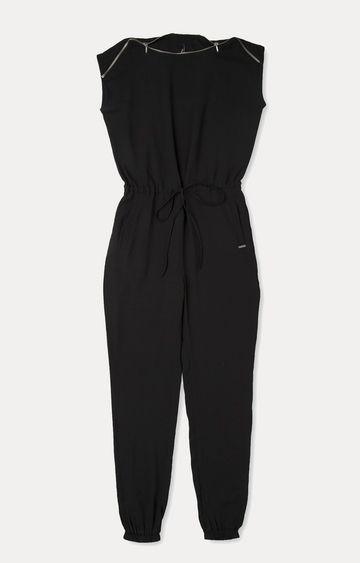 Pepe Jeans | Black Long Jumpsuit