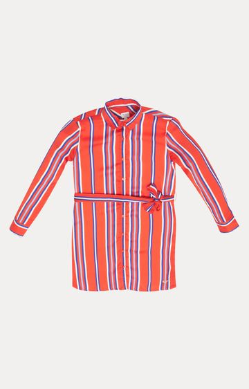 Pepe Jeans   Red Striped Dress