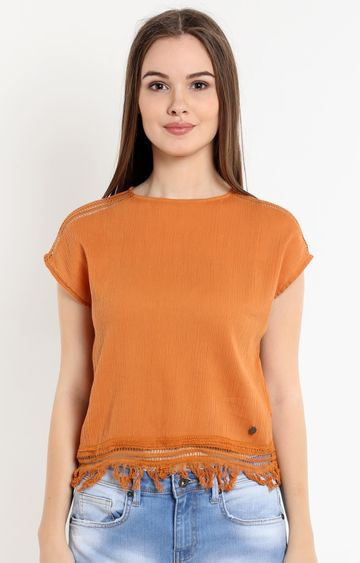 Pepe Jeans   Brown Solid Top