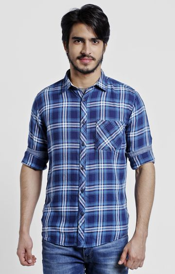 Pepe Jeans | Blue Checked Casual Shirt