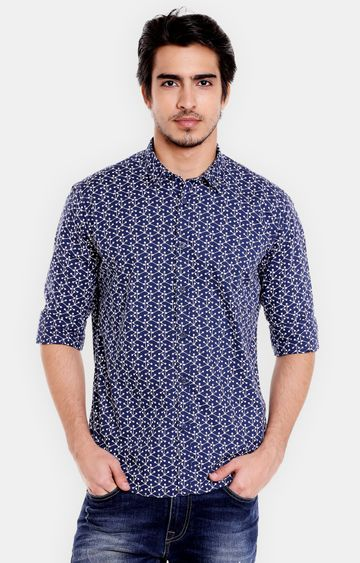 Pepe Jeans | Navy Printed Casual Shirt