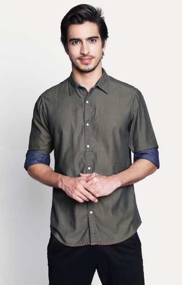 Pepe Jeans | Olive Solid Casual Shirt
