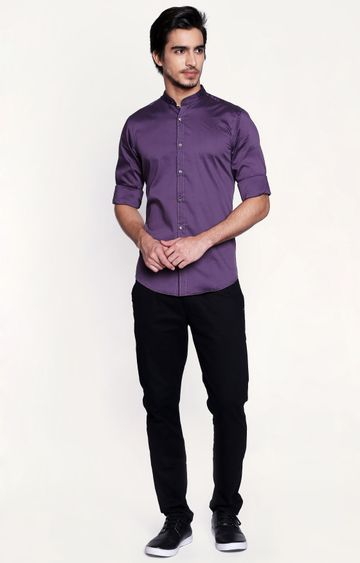 Pepe Jeans | Plum Solid Casual Shirt