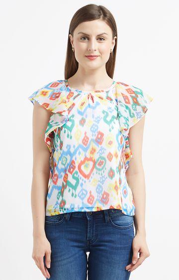 Pepe Jeans   Multicoloured Printed Blouson Top