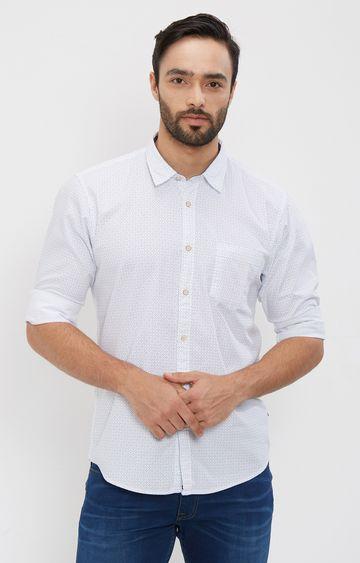 Pepe Jeans | White Printed Casual Shirt