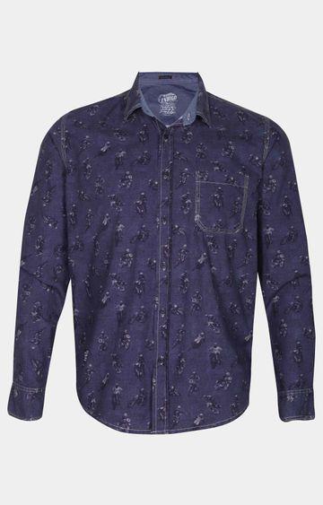 Pepe Jeans | Indigo Printed Casual Shirt