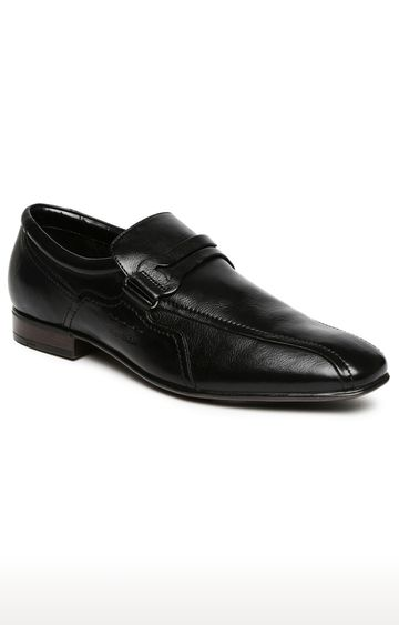 Ruosh | Black Formal Slip-ons