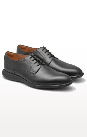 Ruosh | Black Derby Shoes